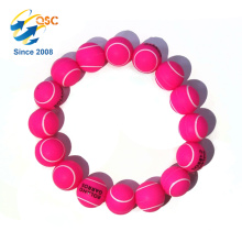 Promotional Customized logo silica gel bead Bracelet