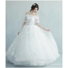 Mermaid bretelles Juliet manches robe de mariée Robe de mariée en lin longueur TS166