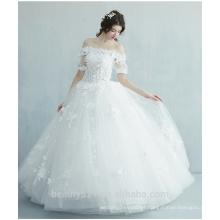 Mermaid strapless Juliet vestido de noiva de manga vestido de noiva com piso de comprimento TS166