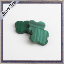 Fashion Natural Fancy Flower Shape Malachite for Jewellery