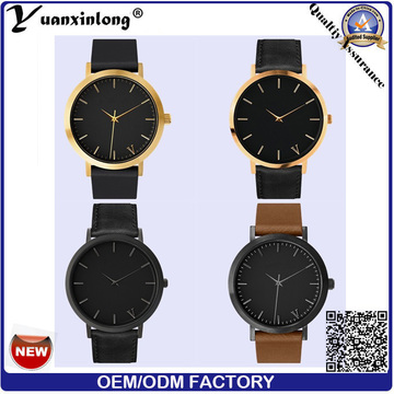 Yxl-067 Simple Design High Quality Watches Gold Plated Men′s Business Wristwatch Promotional Men Watches