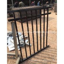 2016 Línea de la seguridad de la venta caliente Top la cerca de acero tubular del barandilla