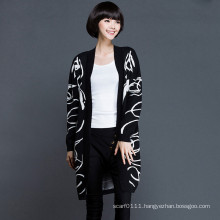 Lady Fashion Viscose Knitted Winter Cardigan Sweater (YKY2055)