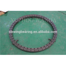 Rolling rotary ring bearing with black oxide coating