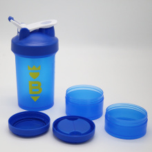 Good Quality for Food Grade Shaker Bottle 450ml Blue Bottle Shaker Bottle Two Screw-up Container export to Saint Kitts and Nevis Wholesale