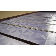 17m m Slatwall del color sólido usado en supermercado con el certificado de Ce