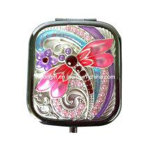 Colorful Dragonfly Pocket Make up Mirror