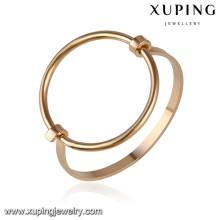 51646 Xuping 18k banhado a ouro cor jóias pulseiras do bebê