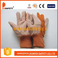 Guantes de jardín polka naranja puntos guantes de seguridad (dcd205)