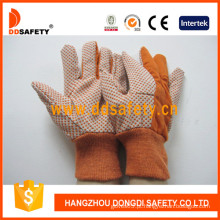 Luvas de jardim laranja polka luvas de segurança pontos (dcd205)