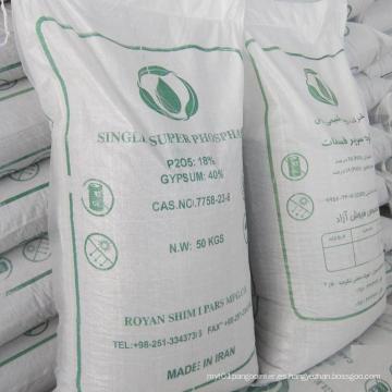 Fertilizantes agrícolas Superfosfato simple granular (GSSP)
