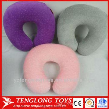 high quality hot selling custom Logo printed memory foam travel u shape pillow