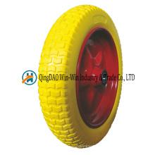 4.00-10 Roue de mousse d'unité centrale 4.00-10 Roue de brouette de pneu de preuve de crevaison d'unité centrale