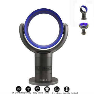 Economia de energia 12 polegadas ABS Bladeless Ventilador Portátil No Fan Blower Folha