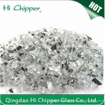 Chips de espejo triturado reciclado