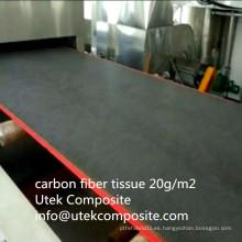 Resistencia a altas temperaturas Tejido de Fibra de Carbono de 20 G / M