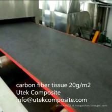 Resistência a altas temperaturas 20 Tecido de fibra de carbono GSM