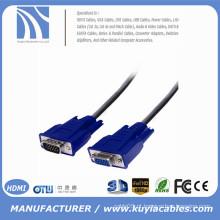 SVGA cabo VGA HDB15 macho para cabo de extensão feminino