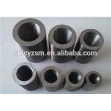 Barre d'acier / barres d'armature / acier au carbone manchon de raccordement, connexion droite de coupleur de douille de vis avec le prix concurrentiel