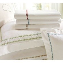 Pearl Embroidered Pillow Cases and sham