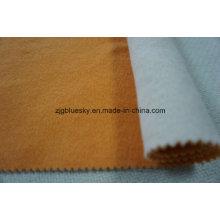 Faces duplas de tecido de lã branca e açafrão