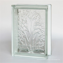 baixo preço de construção oco 190 * 190 * 80mm blocos de vidro transparente