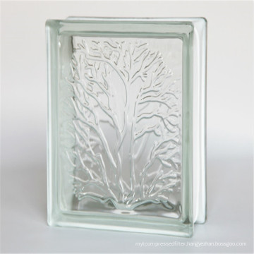 low price building hollow 190*190*80mm clear glass blocks