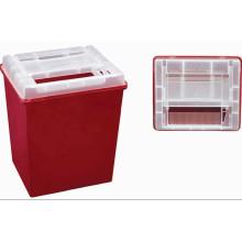 Plástico medicinal desechable Contenedor agudo de 8,0 litros