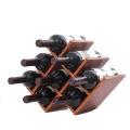 10 diseños titular de vino de madera botella natural