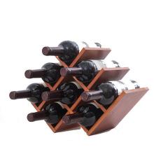 10 образцов натуральных бутылки деревянный держатель вина