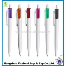Buena calidad 2015 empujando gratis envío promoción lápiz de plástico, plástico bolígrafo, pluma de bola plástica