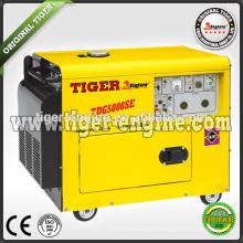 5.0kw diesel silencioso generador conjunto