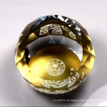 Promtoion personalizable Logo impreso pisapapeles de cristal