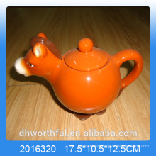 Animal shape ceramic teapot with horse figurine