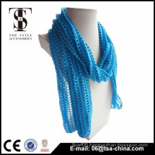Hot selling blue trend hollow special technological scarf