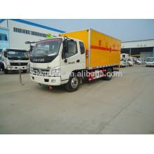 Foton 4x2 camión de fuegos artificiales, pequeño foton camión mini explosivo camión