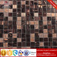 cheap mosaic tile brown mixed Hot - melt mosaic tile flooring for bathroom