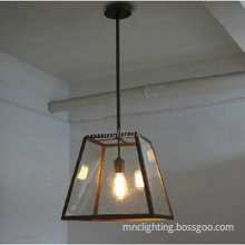 modern pendant lights with black iron glass shade metal ceiling lamps