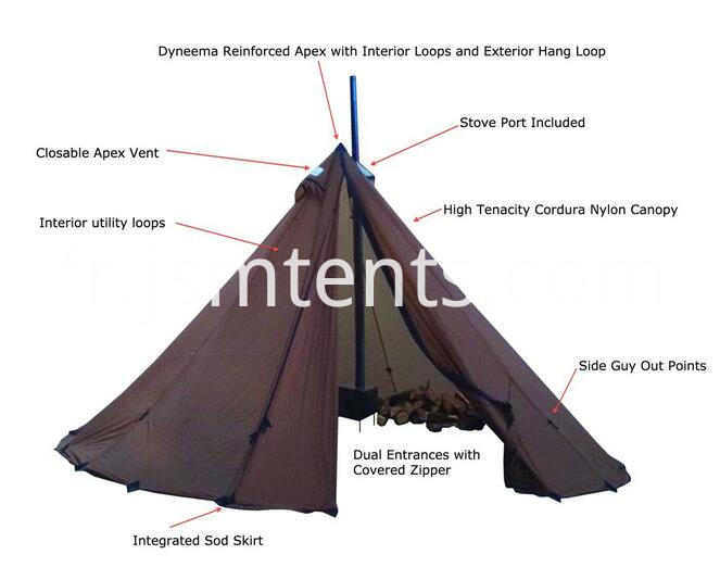Luxury Pyramid Teepee Tents