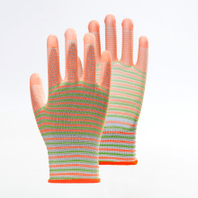 Polyester Zebra Pattern PU Coated Work Gloves