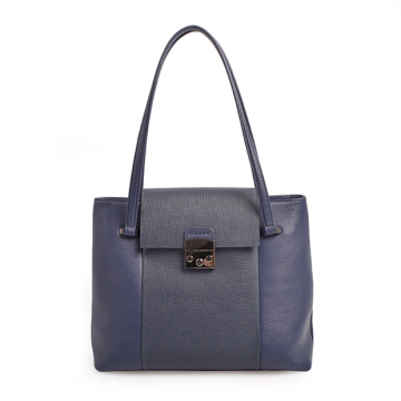 Borsa a tracolla Darley Medium Polly in morbida pelle blu