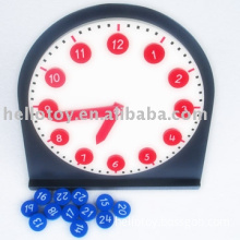 Wooden Toys - Montessori Toys - Clock with Movable Hands (HTM0123)