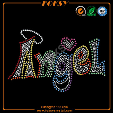 OEM manufacturer custom for Angel Rhinestone Transfer Colorful Angel rhinestone transfers motif wholesale supply to Uruguay Factories