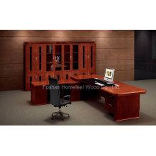Высокое качество офисного стола Производство Деревянный стол исполнительного босса (HF-LTA003)