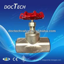 Vente chaude BSP/BSPT/NPT vis /Thread inox Globe Valve CF8M/CF8 Made In China 200WOG