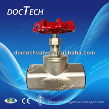Hot Sale BSP/BSPT/NPT Screw /Thread Stainless Steel Globe Valve CF8M/CF8 Made In China 200WOG