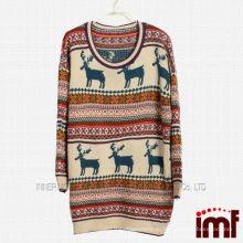 Дамский оленьей свитер