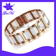 2013 Gus-Cmb-012 Big Size and Unique Ceramic Jewelry Chain with Stainless Steel in Vacuum Plating Rose Gold Color