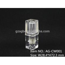 AG-CW001 pequeño y exquisito Quadrate caso de labios plástico transparente