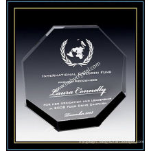 "Crystal Octagon Award Plaques for Recognition 6"" H (NU-CW691)"